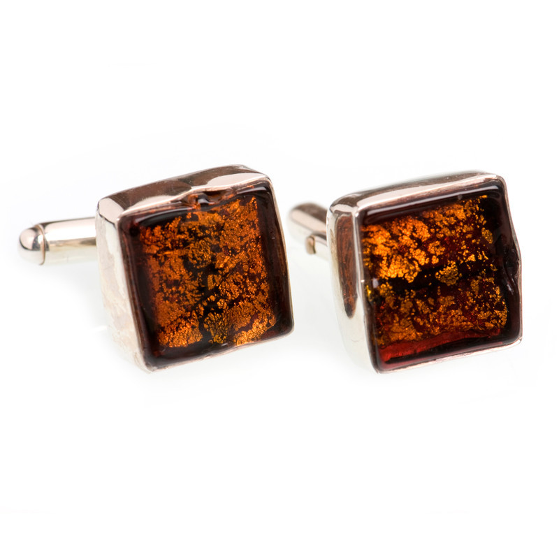 CUFFLINKS VENETIAN GLASS
