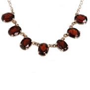 NECKLACE GARNET SVR S/H